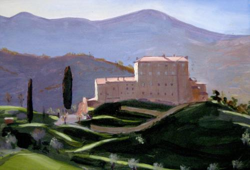 Artwork Castle in Tuscany