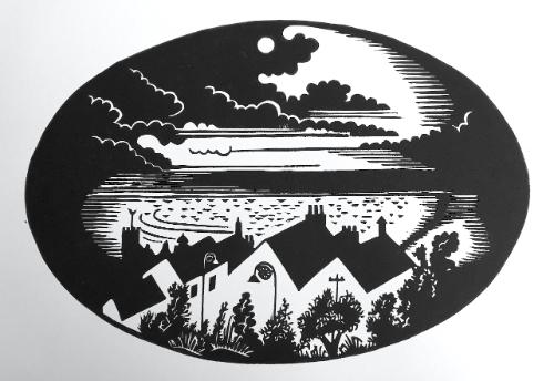 Full Moon over Lyme Bay by Hugh - Use the 'Create Similar' button to commission an artist to create your own artwork.