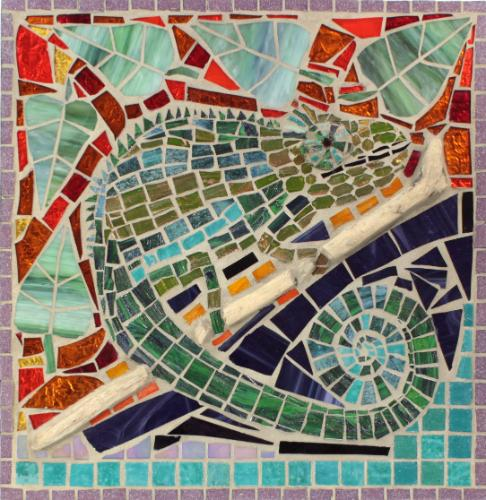 Colourful Chameleon by Mosaics