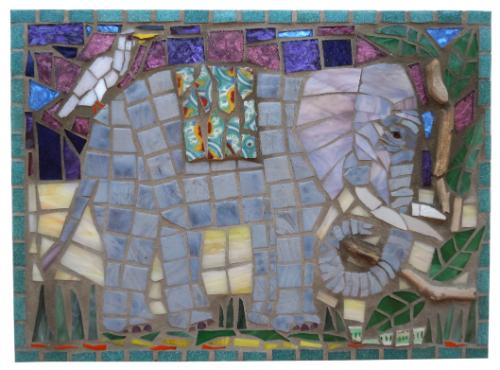 Enchanting Elephant by Mosaics - Use the 'Create Similar' button to commission an artist to create your own artwork.