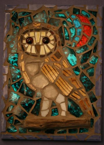 Barn Owl by Mosaics - Use the 'Create Similar' button to commission an artist to create your own artwork.