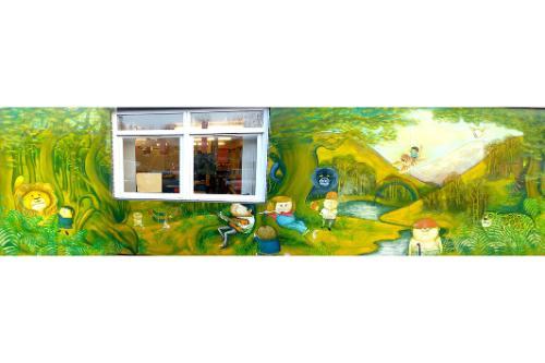 Artwork Rossett Acre Primary school mural