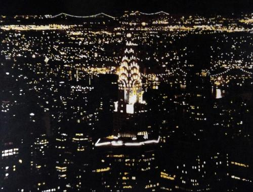 Artwork Chrysler Building by Night SOLD