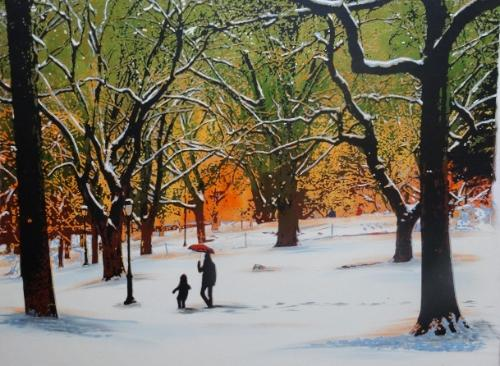 Artwork Autumn Snow in Central Park