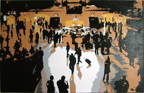 Artwork Silhouettes at Grand Central SOLD