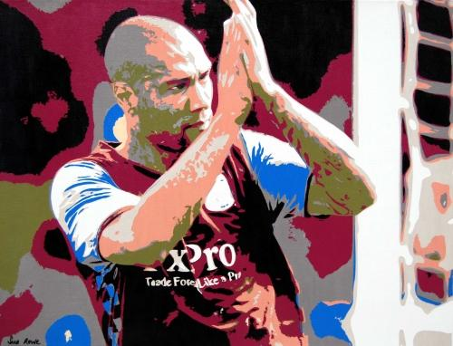 Artwork John Carew - Footballer