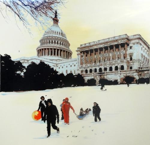 Artwork Snow on Capitol Hill