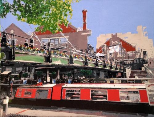 Artwork Red Barge SOLD
