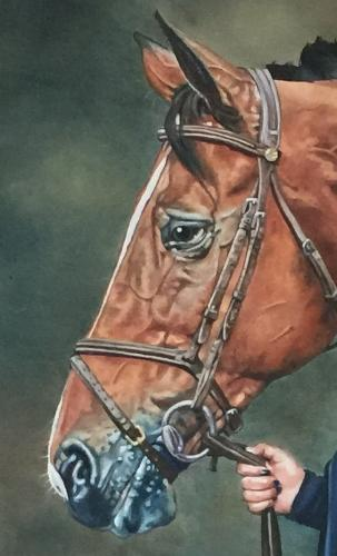 Horse and owner by Louiseportraits - Use the 'Create Similar' button to commission an artist to create your own artwork.
