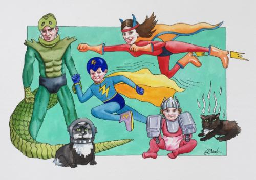 Artwork Super hero family