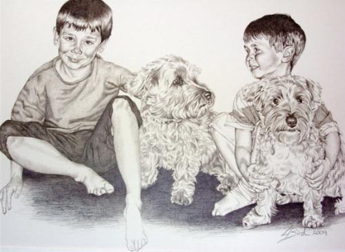 Artwork Boys and their dogs