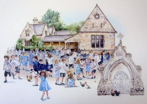 Artwork School playground