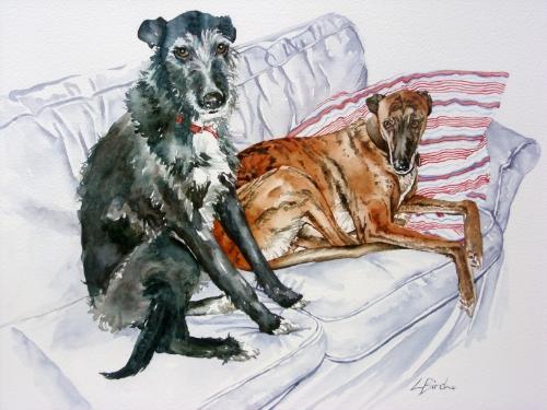 Artwork Susie's dogs