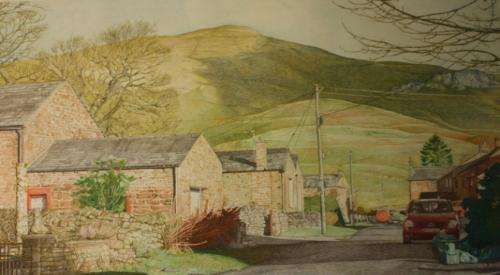 Artwork Murton Village in Cumbria.