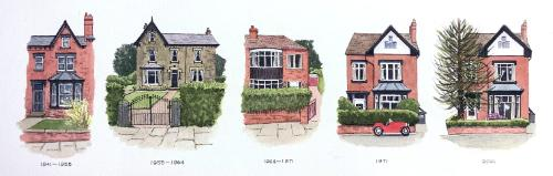 Artwork Four Houses in 80 Years