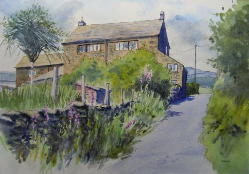 Ridge Farm by Judith - Use the 'Create Similar' button to commission an artist to create your own artwork.