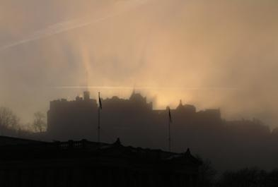 Artwork Edinburgh Castle at dawn