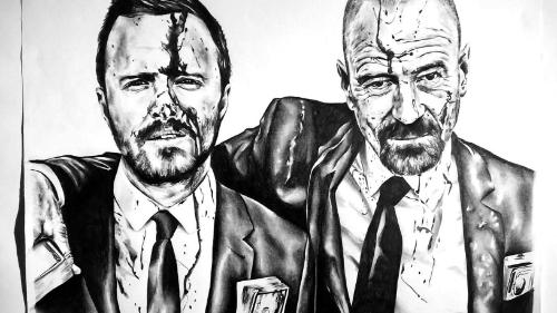 Breaking bad drawing by Dunc - Use the 'Create Similar' button to commission an artist to create your own artwork.