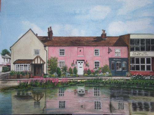 Artwork Bushey High Street By The Pond