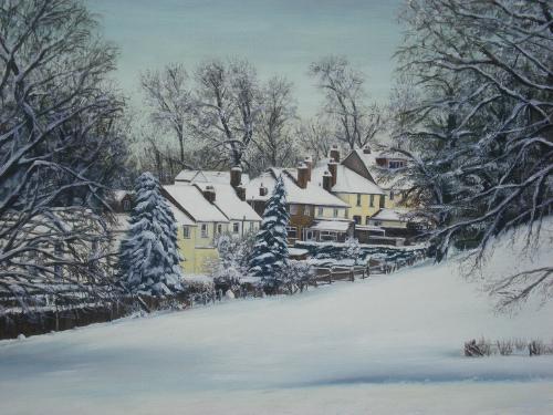 Artwork Back Of Cross Road In Winter