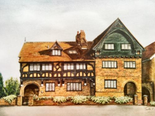 Artwork The Tudor Building In Bushey