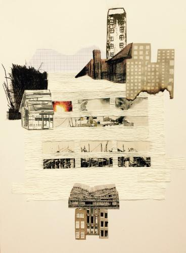 The Great Fire of Chicago by Eva - Use the 'Create Similar' button to commission an artist to create your own artwork.