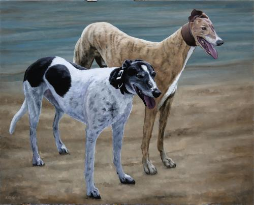 Dana and Archie by Andrew - Use the 'Create Similar' button to commission an artist to create your own artwork.