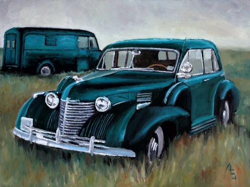 Artwork 1940 Cadillac Series 72