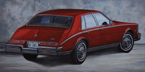 Artwork Red Cadillac Seville