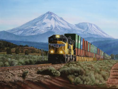 Artwork Mount Shasta and Union Pacific 5050