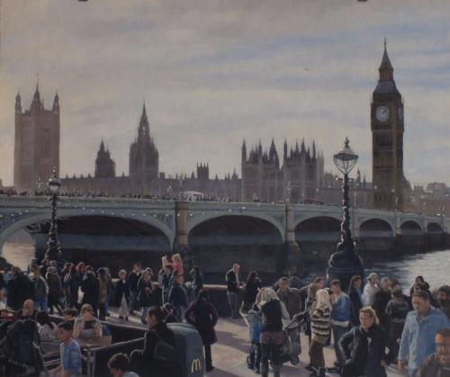 Westminster Bridge by Andrew - Use the 'Create Similar' button to commission an artist to create your own artwork.