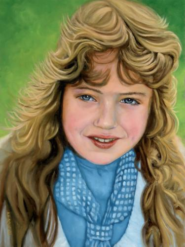 Artwork Portrait of a young girl