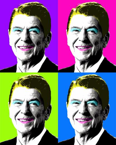 Artwork Nancy Reagan x 4