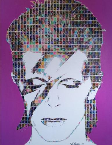 Bowie - Aladdin Sane by 318iscurry - Use the 'Create Similar' button to commission an artist to create your own artwork.