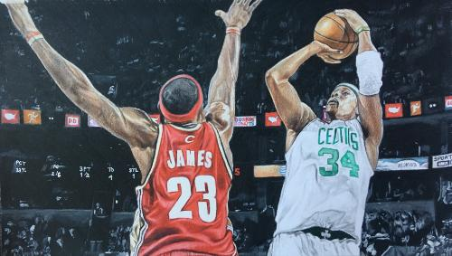 Artwork Lakers vs. Celtics