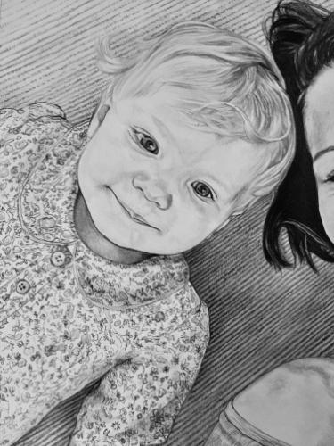 Artwork Baby and mother