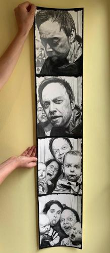 Artwork Polaroid family portrait