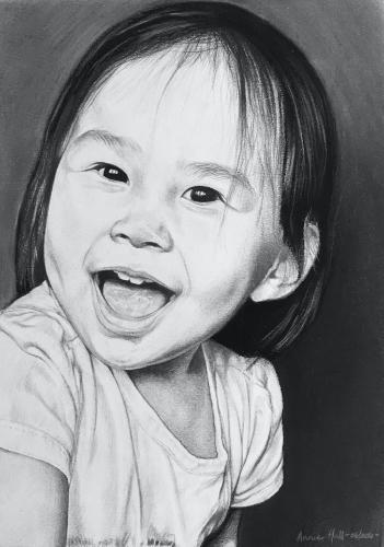 Artwork Happy girl