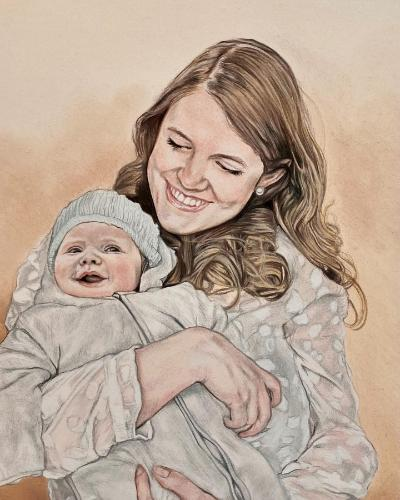 Artwork Mother and baby