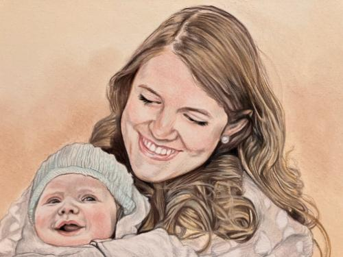 Mother and baby by AnnieH - Use the 'Create Similar' button to commission an artist to create your own artwork.
