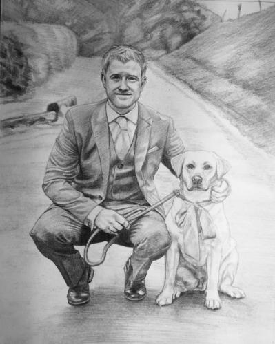 Artwork Joe and dog