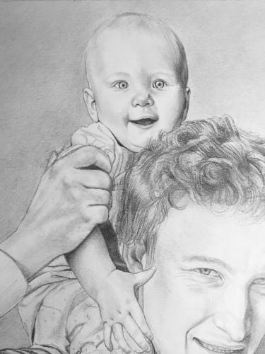 Father and daughter by AnnieH - Use the 'Create Similar' button to commission an artist to create your own artwork.