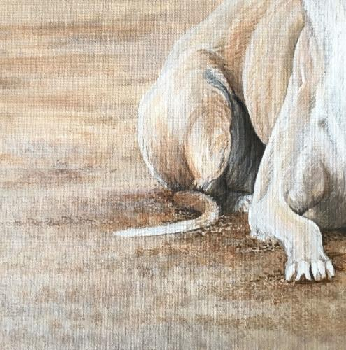 Whippet on the Beach by Vicky - Use the 'Create Similar' button to commission an artist to create your own artwork.