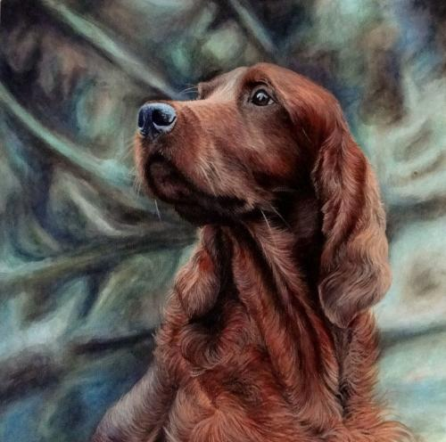Artwork Aaron the Red Setter