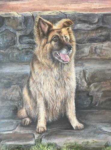 Artwork 'Max'  -  German Shepherd