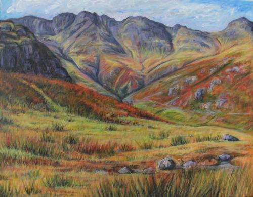 Artwork Looking to the Langdales