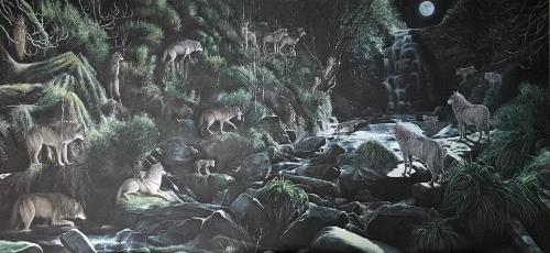 Artwork Wolves at Middle Back Clough
