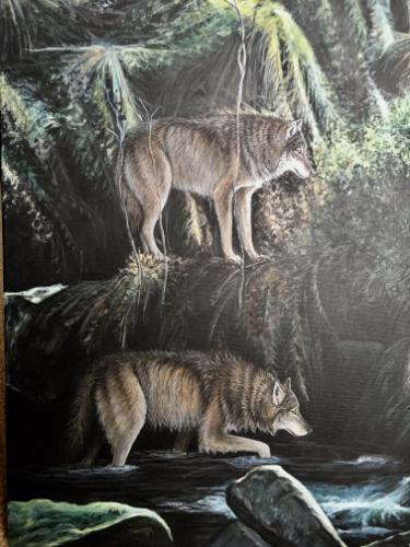 Wolves at Middle Back Clough by Vicky - Use the 'Create Similar' button to commission an artist to create your own artwork.