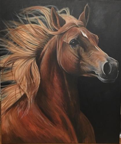 Artwork Chestnut Stallion