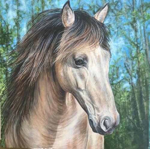 Artwork Rocky Mountain Stallion